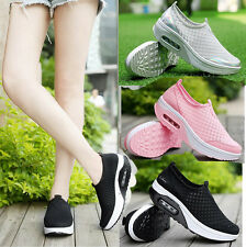 New Womens Fitness Mesh Sports Shoes Runing Sneakers Shape Ups Platform Shoes