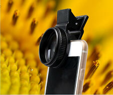 3 in 1 Fish Eye + Wide Angle + Macro Lens Camera Clip For iPhone Samsung Sony