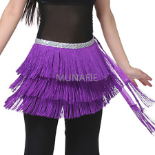 NEW 2017 Belly Dance Hip Scarf Belt Tribal Fringe Tassel wrap Belt Hula Skirt