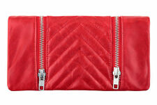 Status Anxiety Alice Wallet - Red RRP $99 Leather Brand New