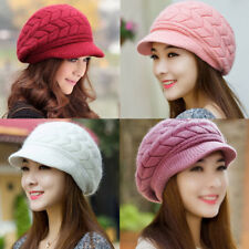 Women's Winter Knit Crochet Slouch Baggy Beanie Hat Crochet Ski Cap Beret USShip