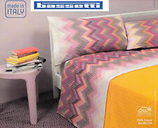 Sheets Cotton BASSETTI - PAGET. Single, 1 piazza - Double, 2 piazze