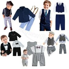 Boys Suits 4 Piece Waistcoat Suit Wedding Page Boy Baby Toddler Formal Party