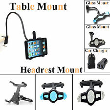 360 Rotating Car Headrest Mount ,Lazy Bed Mount & Car Charger for iPad 2 3 4 HTC