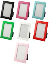 """IKEA picture frames 4x6"""" white black blue pink green hang or stand 1 or 2 FISKBO"""