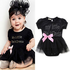 Cute Baby Girl 0-18M Toddler Tulle Tutu Skirt Romper One-Piece Outfit Dress