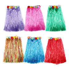 Hawaiian Dress Skirt Hula Grass Skirt With Flower Accessories Lady Costume PE