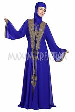 MOROCCAN DUBAI JALABIYA JILBAB ISLAMIC ARABIAN FANCY TAKCHITA MAXI DRESS 5809