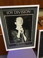 Genuine 1982 Factory Records Ian Curtis Promo Poster for Joy Division FACT37 VHS