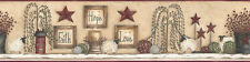 PRIMITIVE COUNTRY ~FAITH, HOPE, LOVE  WALL BORDER ~NEW $18.99 PER ROLL