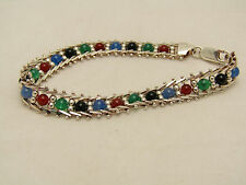 Sterling Silver Failed Magnet Test Jewelry Unique Multicolor Beaded Bracelet
