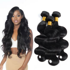 Peruvian Body Wave Remy Hair Extensions 3 Bundle Natural Black Wavy Hair Bundles