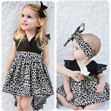 Summer Baby Kids Girls Sister Matching Outfits Romper Tutu Dress Twins Clothes