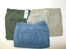 L L BEAN, WOMEN'S, NIP, SUNWASHED CANVAS SHORTS, PLUS SIZES, VARIOUS COLORS