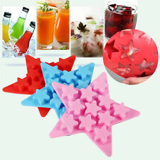 DIY Five Star Shaped Cool Silicone Ice Cube Tray Freeze Mold Maker Tools Soft