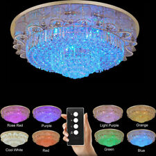 Modern Fashion round chandeliers LED Flush Mount K9 crystal ceiling lamps #0075