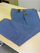 OAKMAN COMFORT STRETCH SULPHUR DYE CHINO IN SEA BLUE SIZE 54R