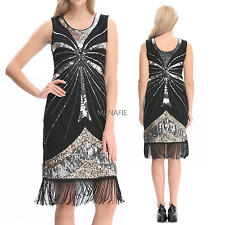 NEW 20s Flapper Dress Gatsby Charleston Deco Sequin Fringe Vintage Party Dresses