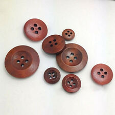 50Pcs 4 Holes Wooden Round Buttons Clothing Buttons DIY Sewing Craft Utility