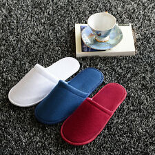 5/20 Pairs White Disposable Slippers Towelling Hotel Slippers SPA Slippers Guest