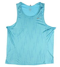 Nike 0340 Athletic Gym Mens Dri-Fit Miler Fuse Running Singlet Tank Sports Blue