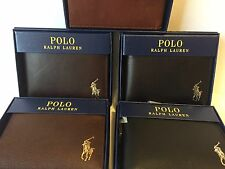 POLO RALPH LAUREN MENS GENUINE LEATHER PASSCASE black - brown - New Box With Tag