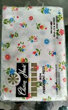 Vintage  Retro Twin Flat Sheet Small Colorful Flowers Fabric Crafts