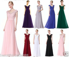 Cap Sleeve Evening Bridesmaid Formal Prom Dress Ever Pretty Ball Gown Stock Size