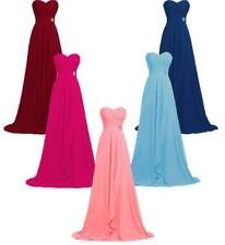 Long Chiffon Prom Party Formal Evening Gown Sweetheart Bridesmaid Dress R5265