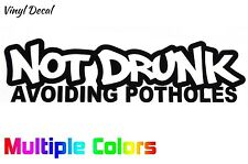 Not Drunk Avoiding Potholes Sticker | Funny JDM Stance Lowered Decal