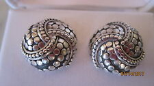 Auth JOHN HARDY STERLING SILVER* Dot Collection Earrings