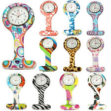 Numer Pattern Silicone Nurses Brooch Tunic Pocket Watch Stainless Dial Perfect