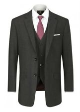 SKOPES Wool Blend Darwin Charcoal Suit Jacket in Size 34 To 62, S/R/L