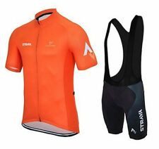 Team Strava Cycling Jersey and Bib Shorts Set (UK SELLER)