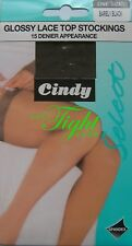 15 Denier LaceTop Glossy Stockings (Cindy) - Clearance