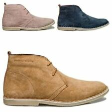 London Brogues Ladies Womens Real Suede Leather Casual Lace Up Desert Boots Shoe