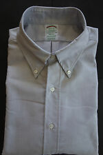 NWOT Brooks Brothers Gray Oxford Cloth Button Down 15.5-32 Milano MSRP $140