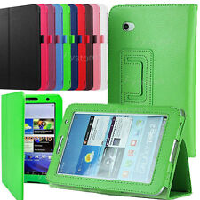 """PU Leather Stand Case Cover For SAMSUNG Galaxy Tab 2 7.0"""" Tablet P3100 P6200"""
