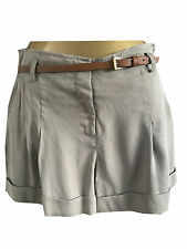 New Oasis Shorts Belted Size 8 10 12 14 16 Summer Brown Beige Khaki High Waisted