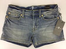 7 For All Mankind Girls Jean Shorts In Light Washed