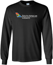 South African Airways Vintage Logo South Africa Airline Long-Sleeve T-Shirt