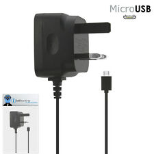 3 Pin 1000 mAh UK MicroUSB Mains Charger for BlackBerry 8520 Curve, 9300 3G