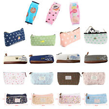 NEW Various Zipper Stationery Pencil Case Cosmetic Make Up Bag Pouch Storage UK