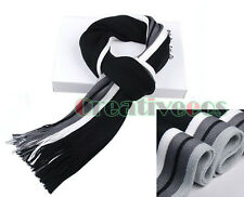 Fashion Men's Mixed Colors Striped Tassel Winter Warm Long Scarf Shawl Wrap New