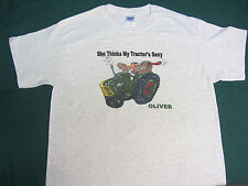 """OLIVER """"SHE THINKS MY TRACTORS SEXY"""" Tractor tee shirt"""