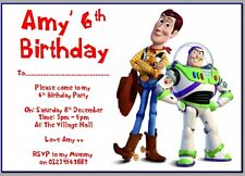 personalised paper card party invites invitations TOY STORY WOODY BUZZ JESSIE