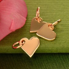 Heart Rose Gold Dangle Charm Pendant Necklace Love Best Friend Mother's Day Gift