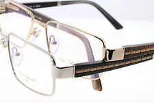 PAUL VASHERONT EYEGLASSES WOOD HAND CARVED 23K GOLD PLATED MADE IN ITALY