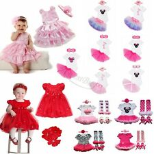 Infant Baby Girls First Birthday Minnie Romper withTutu Skirt Outfit Party Dress