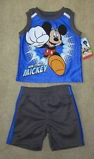 NWT Boys DISNEY MICKEY MOUSE Sleeveless Shirt & Shorts Outfit Set - 12 months